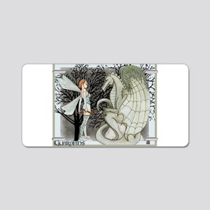 Guardians, Dragon and Fae art Aluminum License Pla